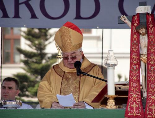 Homilia biskupa Jana Tyrawy – 3 maja – bydgoski Stary Rynek – 2018 r.
