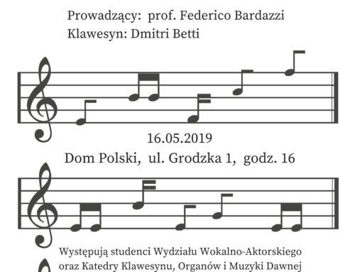 Koncert finałowy warsztatów włoskiej muzyki dawnej