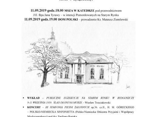 W 80. rocznicę Bydgoskiego Września 1939 r.