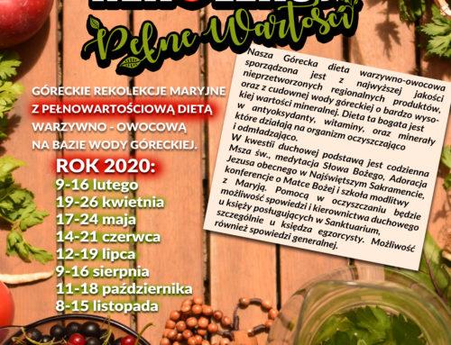 Góreckie rekolekcje maryjne z pełnowartościową dietą warzywno-owocową